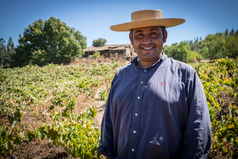 Renán Cancino, winemaker in Sauzal, Maule Valley, Chile